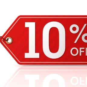 10% extra έκπτωση σε επιλεγμένες μάρκες