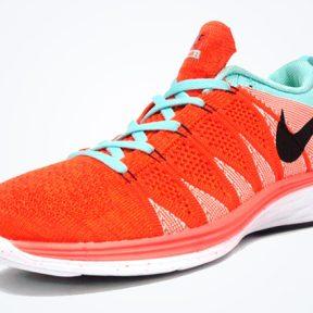 Nike Flyknit Lunar 2 – Orange / White